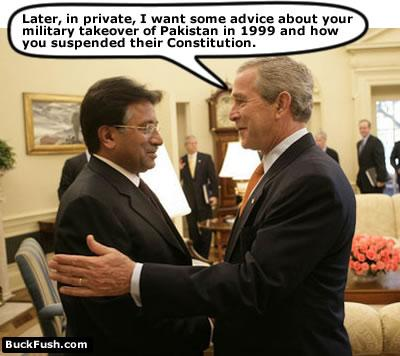 جنرل مشرف اور صدر بش