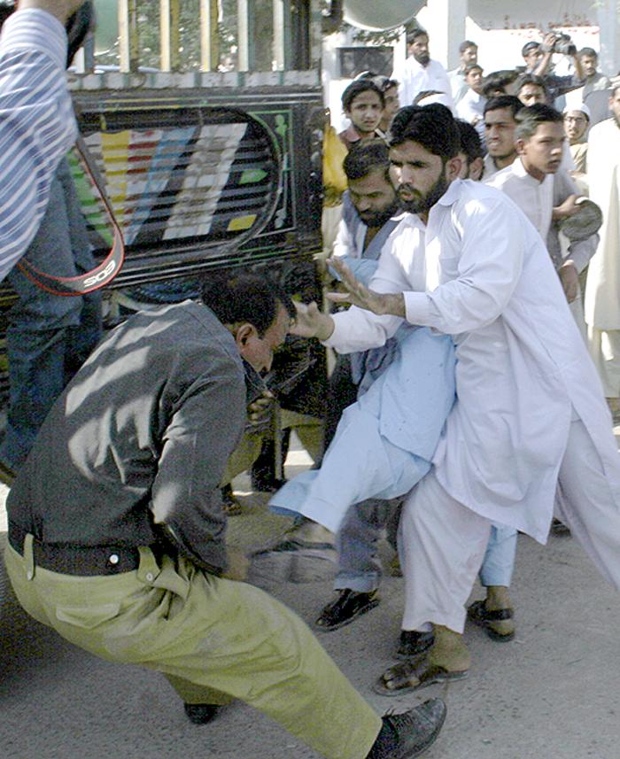 Man Hit Policeman